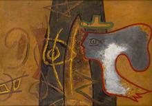 乔治•布拉克 - 绘画 - Profil, Uranie