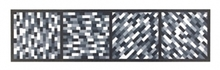 Sol LEWITT - Estampe-Multiple - Broken Gray Bands in Four Directions
