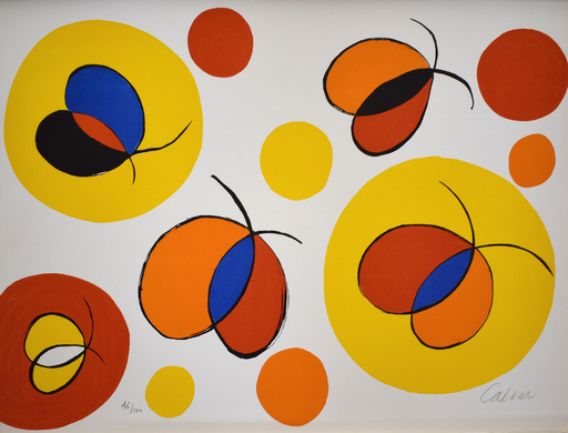 Alexander CALDER - Stampa Multiplo - Composition X, from The Elementary Memory | La mémoire éléme