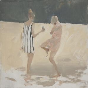 Vladimir SEMENSKIY - Painting - Two Young Girls