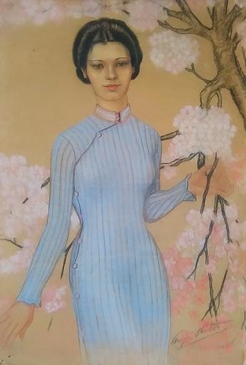 Auguste ARTOT - Drawing-Watercolor - Princesse Hoàng Thi Thê