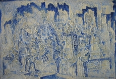 Koler SAMOS - Pintura - La centrale dell'atomo, 1957