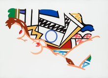 Tom WESSELMANN - Estampe-Multiple - Monica Nude with Lichtenstein