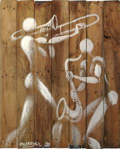 Jérôme MESNAGER - Painting - Jazz Session (Réf 8, 2020)