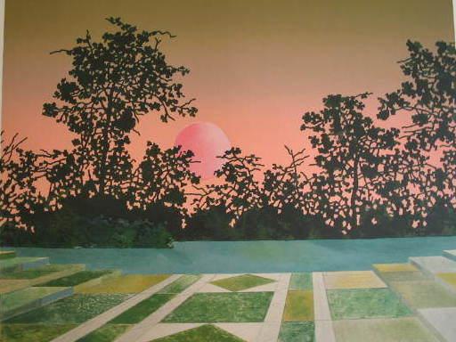 Pierre GARCIA-FONS - Estampe-Multiple - Soleil couchant,1983.