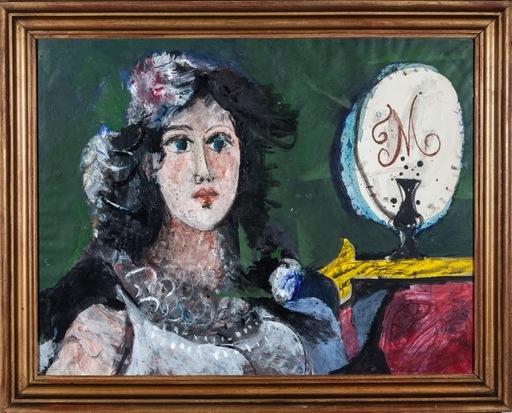Agustín UBEDA - Painting - Dama en el tocador