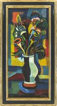 Josef SCHARL - Painting - Blumen in bauchiger Vase
