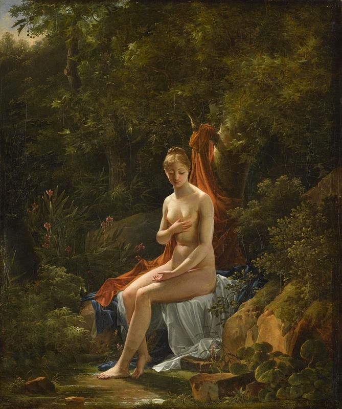 Antoine Pierre MONGIN - Painting - La Rêverie (Idylle)