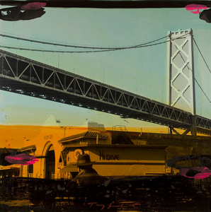 Tony SOULIÉ - Peinture - Untitled - San Francisco  (bridge scene)