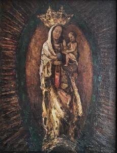 Ernst KOLBE - Painting - Madonna mit Kind auf dem Arm