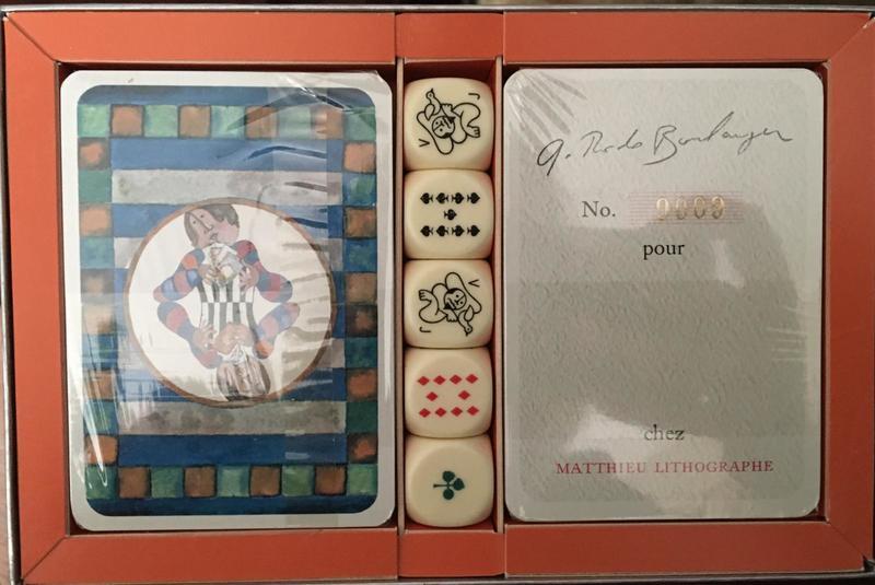 Graciela RODO BOULANGER - Grabado - Playing with Cards with Dice
