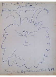 Pablo PICASSO - Drawing-Watercolor - Faun