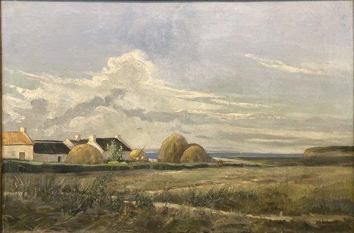 Serge KISLAKOFF - Painting - Grande Huile Sur Toile Peintre Russe Signee Serge Kislakoff