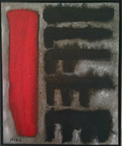 Víctor MIRA - Painting - Mesa desmontable con marmol rojo