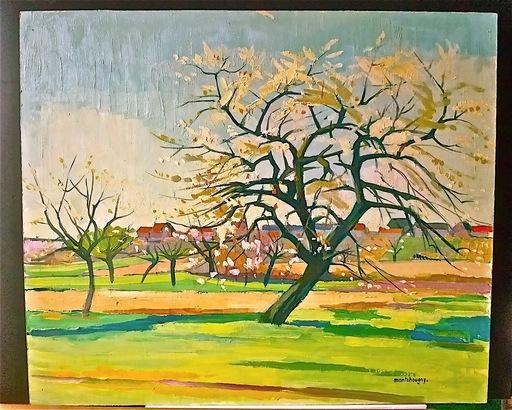 Jean MONTCHOUGNY - Pintura - Cerisier fleuri
