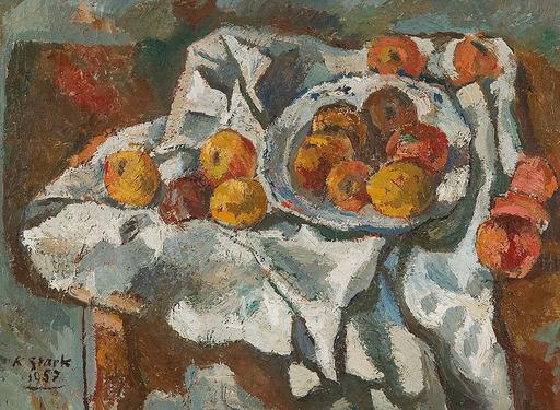 Karl STARK - Pintura - Obststilleben, 1957
