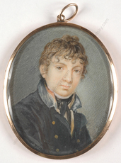 "Carl Christian FIEDLER - Miniature - Carl Christian Fiedler (1789-1851) ""Portrait of a young cade"