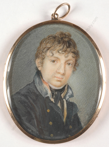 "Carl Christian FIEDLER - Miniatur - Carl Christian Fiedler (1789-1851) ""Portrait of a young cade"