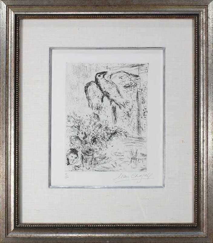 Marc CHAGALL - Print-Multiple - Nature Morte au Grand Oiseau