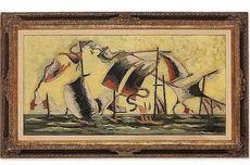 Jean LURÇAT - Pintura - La Bataille de Trafalgar
