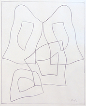 Hans ARP - Drawing-Watercolor - French Form | Forme Francaise