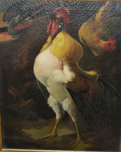 Melchior DE HONDECOETER - Painting - Citroenpel haan