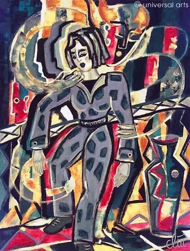 Jacqueline DITT - Peinture - Temporary Vertigo (Vorübergehender Schwindel)