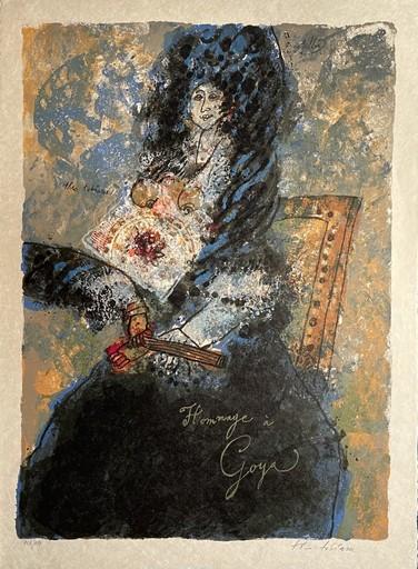 Théo TOBIASSE - Grabado - Hommage à Goya