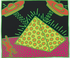 Keith HARING, THE FERTILITY SUITE: ONE PLATE (1983)