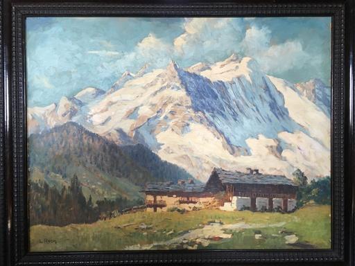 Leonardo RODA - Painting - Paisaje con montañas