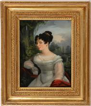 """Wilhelm August RIEDER (Attrib.) - Pintura - W.A. Rieder (1796-1880)-Attrib., """"Portrait of a young lady"""""""