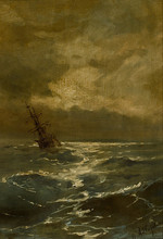 Ivan Constantinovich AIVAZOVSKY - Painting - A Ship in Stormy Seas