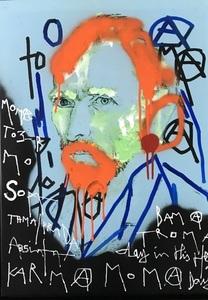 KOKIAN - Painting - L'homme à l'oreille coupée . Pop Art is dead .