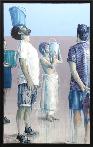 Fintan MAGEE - Pittura - Pray for rain, Colour study #1