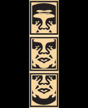 Shepard FAIREY - Radierung Multiple - OBEY Tryptic (cream)