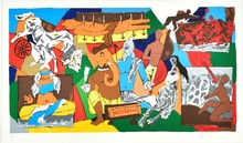 Maqbool Fida HUSAIN - Estampe-Multiple - Mahabharat
