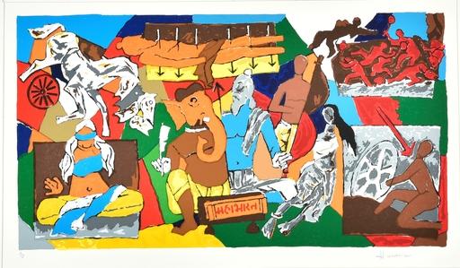 Maqbool Fida HUSAIN - Grabado - Mahabharat