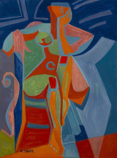 André LHOTE - Painting - Nu égyptien
