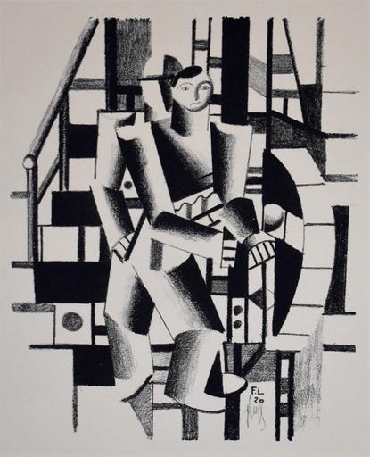 费尔南‧雷杰 - 版画 - Composition with Two Figures, from: The Creators  II No. V4