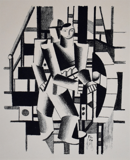 Fernand LÉGER - Estampe-Multiple - Composition with Two Figures, from: The Creators  II No. V4