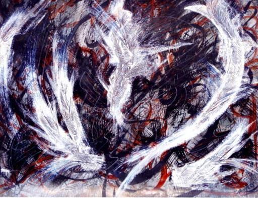 Didier ANGELS - Peinture - Le cygne