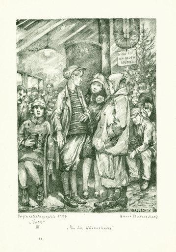 Hans BALUSCHEK - 版画 - In der Wärmehalle