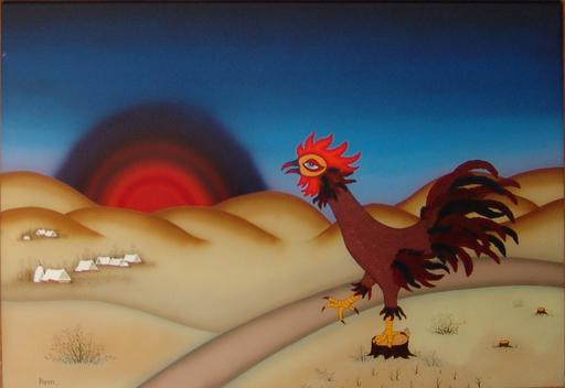 Manfred HORN - Painting - Morgenstund hat Gold im Mund.