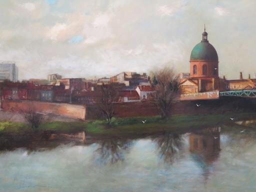 CORNEILLE - Pintura - Toulouse le pont saint pierre