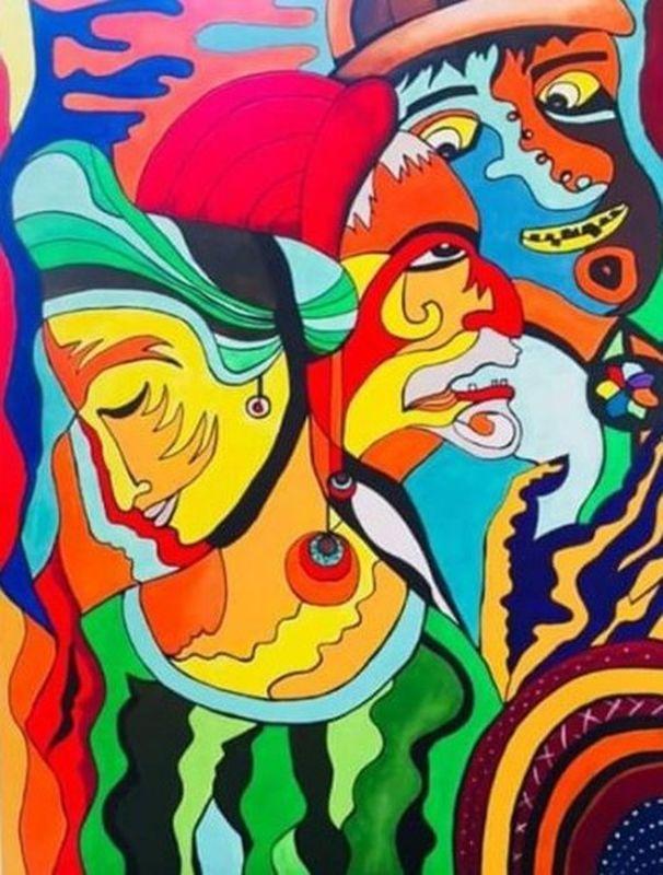 Katie GUITTARD - Peinture - Le portement de croix 2 de Jérôme Bosch