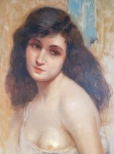 Gustav Max STEVENS - Pintura - Buste van jonge vrouw