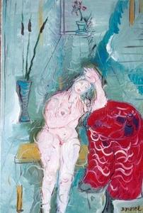 Bernard MOREL - Peinture - MELANCOLIE