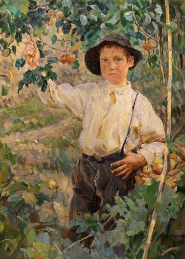 Umberto COROMALDI - Pintura - Il piccolo contadino