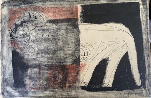 """Josep Maria GARCIA LLORT - Dessin-Aquarelle - """"La bestia"""""""
