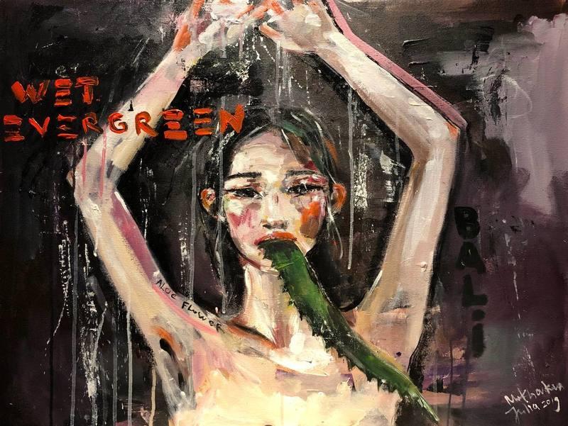 Julia PEKER-MOKHOVIKOVA - Pintura - Wet Evergreen